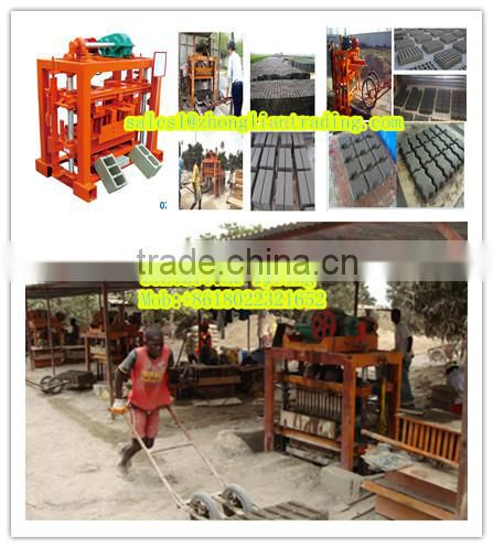 Mozambique fully automatic hollow concrete block making machine price