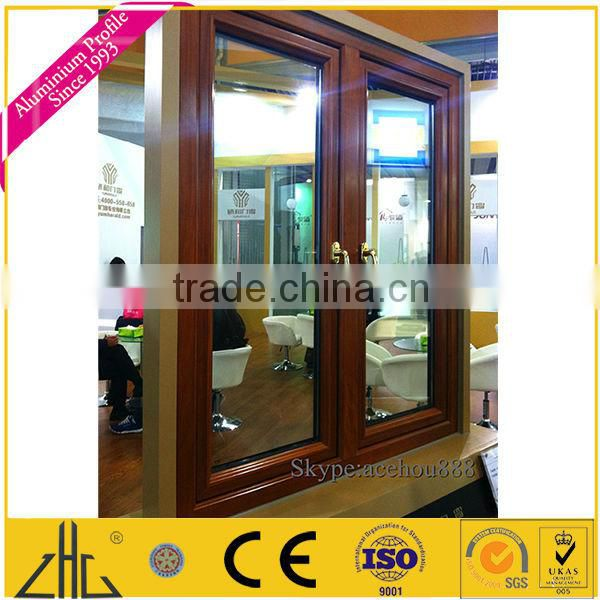 WOW!!!powder coated wood finish window and door aluminum profile,decoration,fence,wooden grain color samples 2013 hot sale