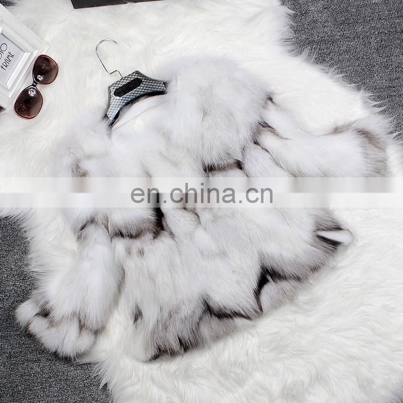 Autumn winter fur overcoat ladies women fox fur overcoat fashion coat