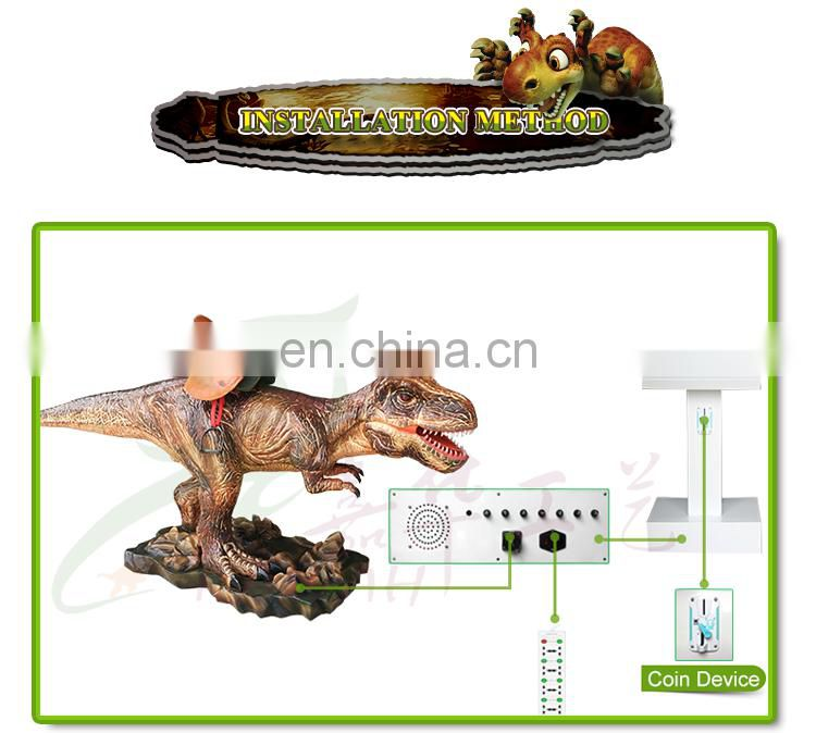 Ourdoor Electronic Game Machine Used Amusement Dinosaur Rides