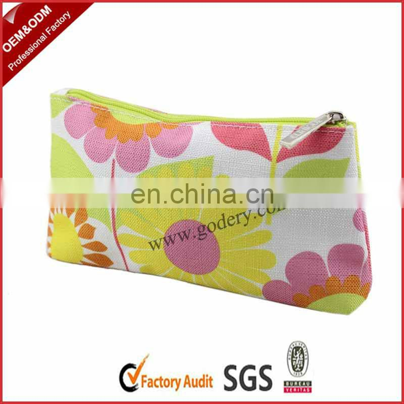 Promotional chevron wholesale cheap Canvas Cosmetic Bags