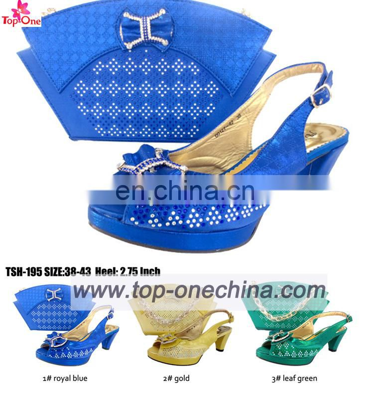 2016 lady sandal with matching bagsItilian shoe and bags setopen top lady shoes