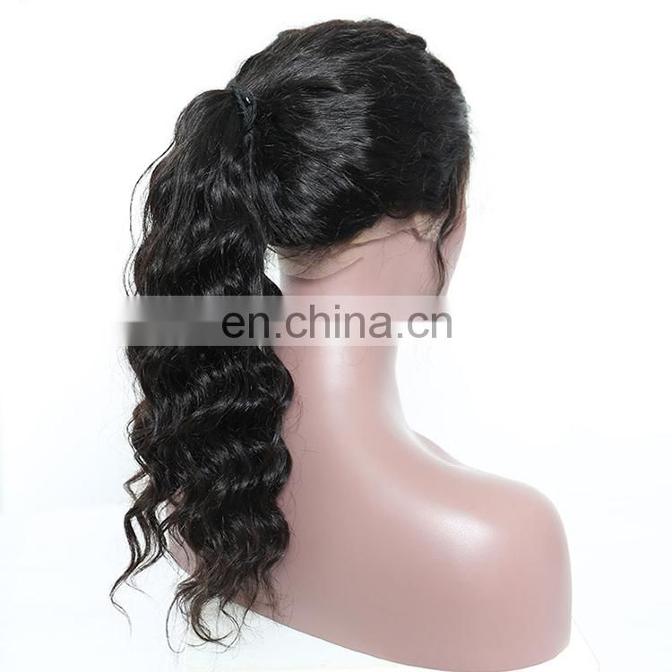China suppliers loose wave human hair wigs for black women, 360 full lace wig curly hair