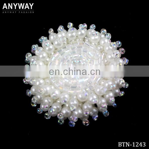 Fancy Beaded Button for Clothing BTN-1244