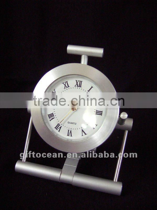 aluminum art metal desk clock,metal crafts table clock