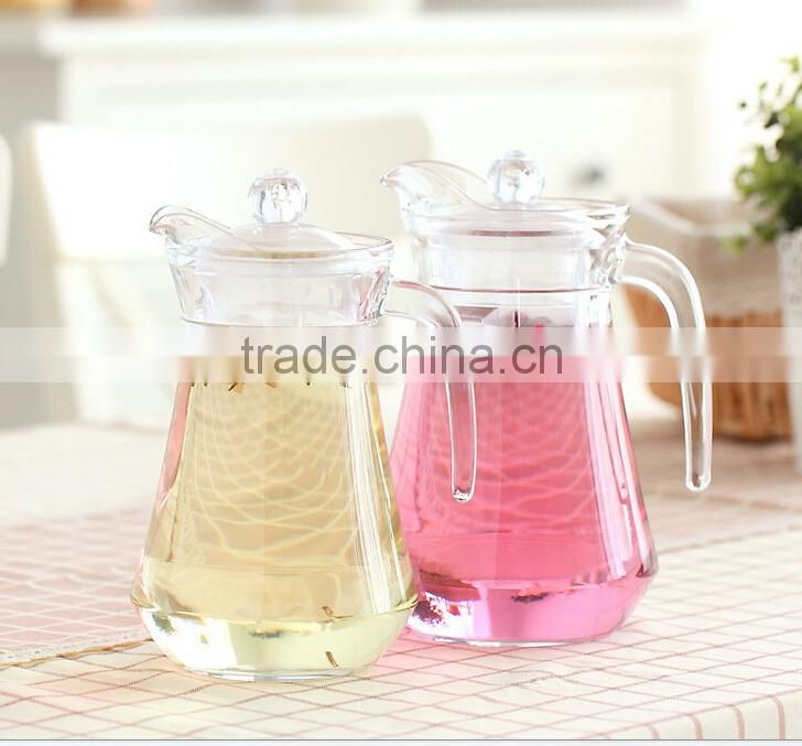 Hot selling good quality glass water jug & beer jug & juice jug