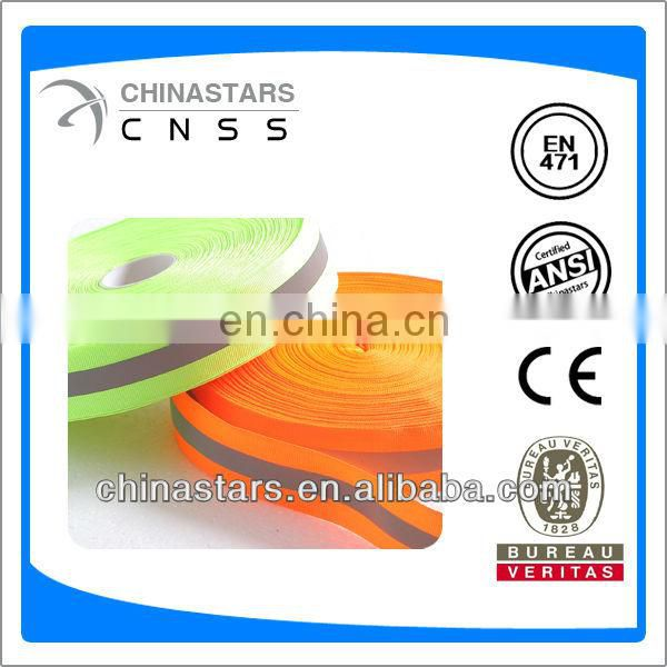 polyester reflective webbing tape for bags