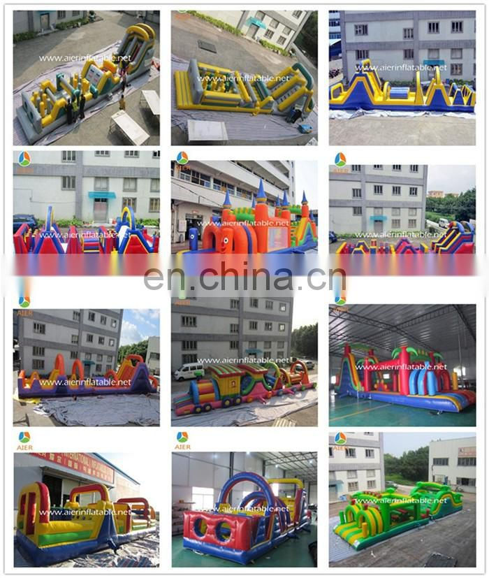 2016 Aier guangzhou inflatable amusement park toys /inflatable obstacle slide/ inflatable slide with obstacle