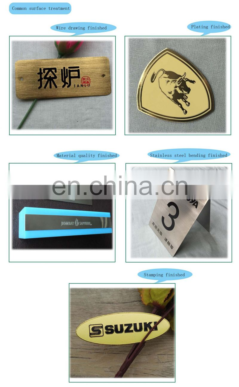 Wholesale Custom Metal Alumium Name Tag With High Craft Technology