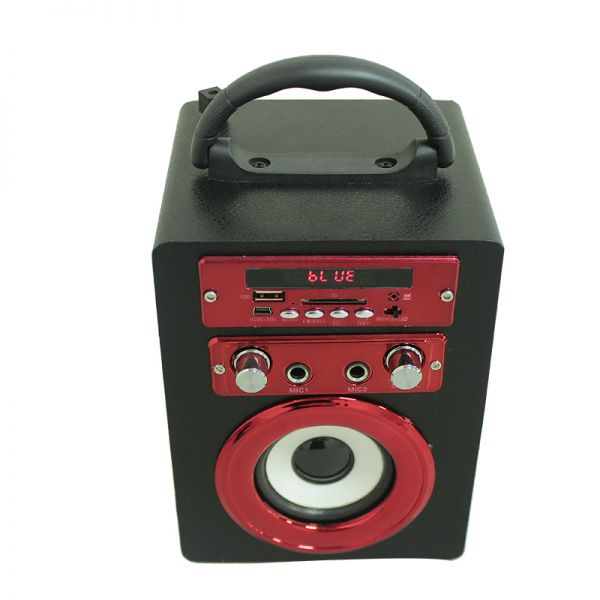 Cost-effective Portable BT Speaker with USB/TF card/AUX Rechargeable loud and High Quality Wireless Karaoke Party Image