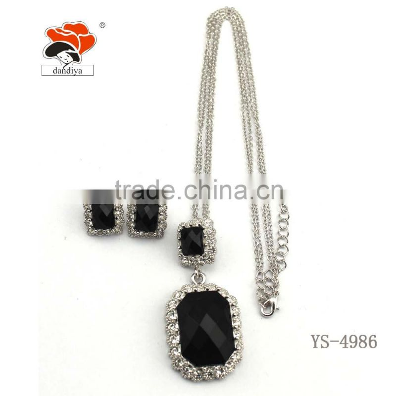 luxurious fine jewelry sets fashion European vogue set jewelry wholesale factory handmake necklace+earrings