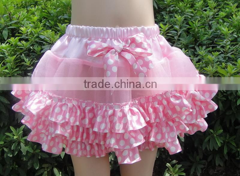 Hot sale children wear summer mini tutu skirt, baby skirt cloth with bow for sale in stock