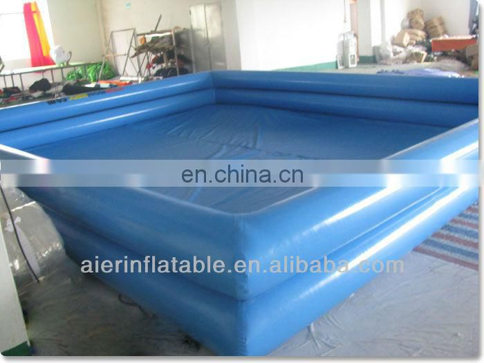 Sky Blue Inflatable Double Layer Pool for kids fun