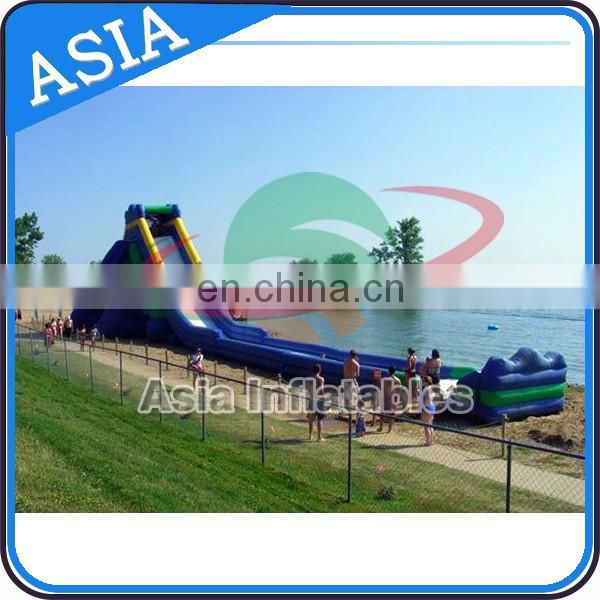 125ft Big Single Lane Inflatable Hippo Ocean Front Slide