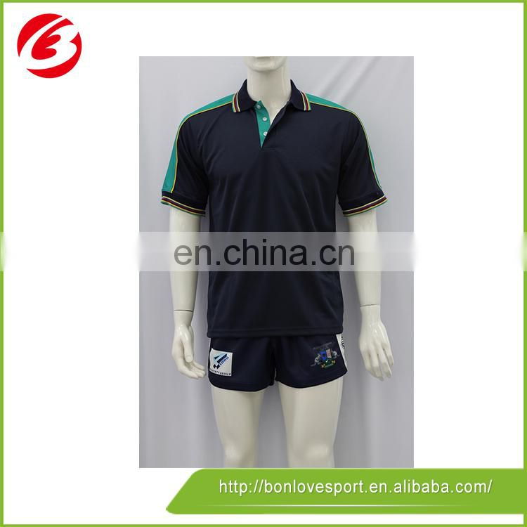 100% polyester Any Logo Men Striped Polo Shirt