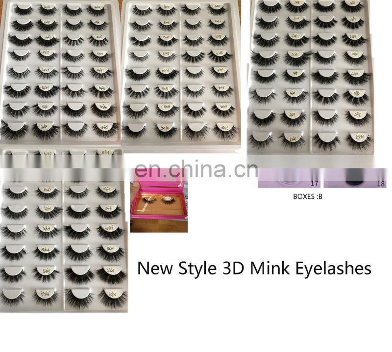 D004 Wholesale Short Mink Eyelashes Fashion Lady 3D Mink Lashes