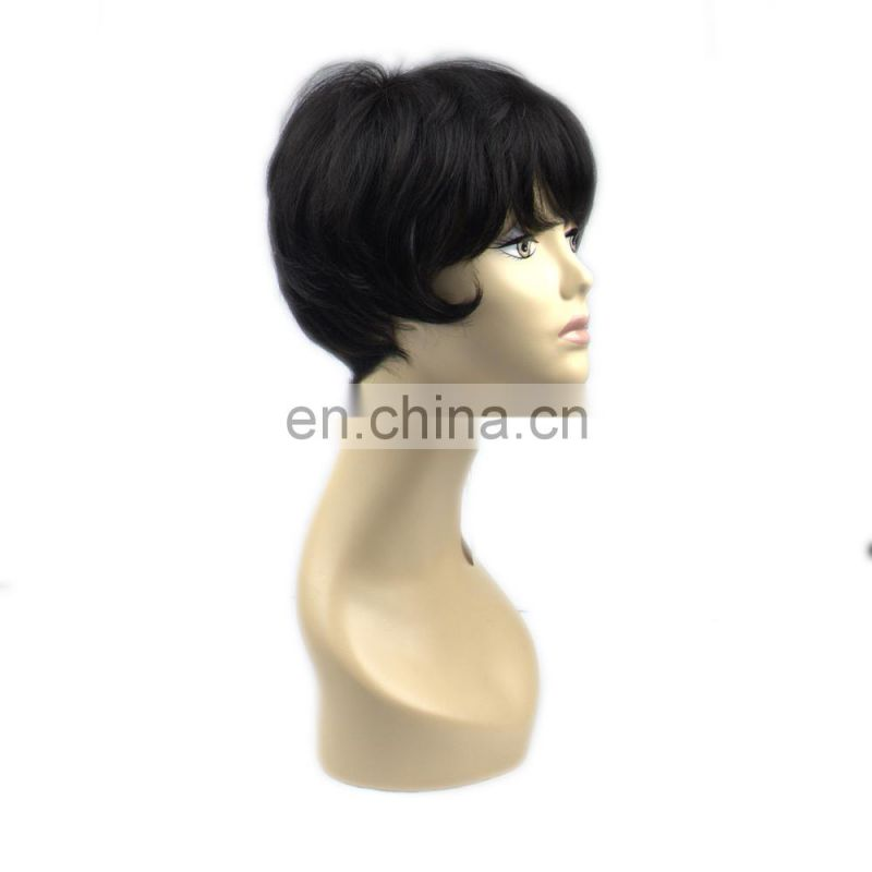 Top grade high quality fashion popular 100% human hair bob style human hair wig