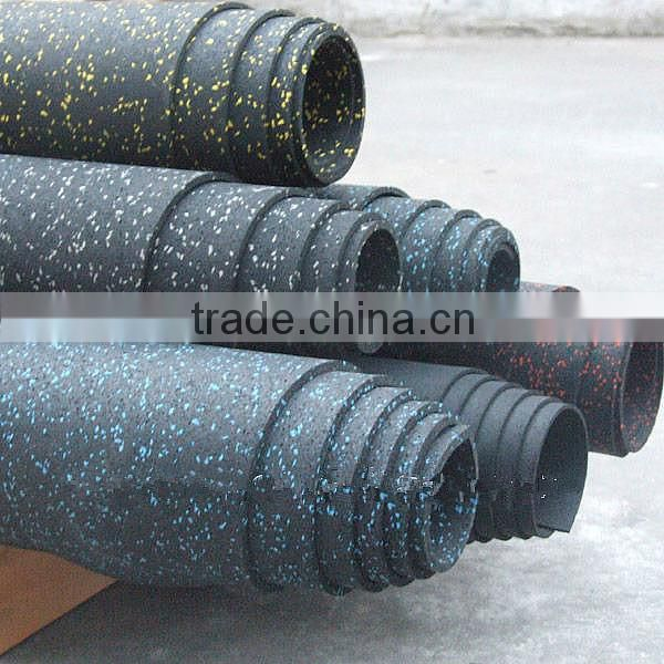 Factory Produced Recycled rubber floor Gym rubber Floor in Rolls