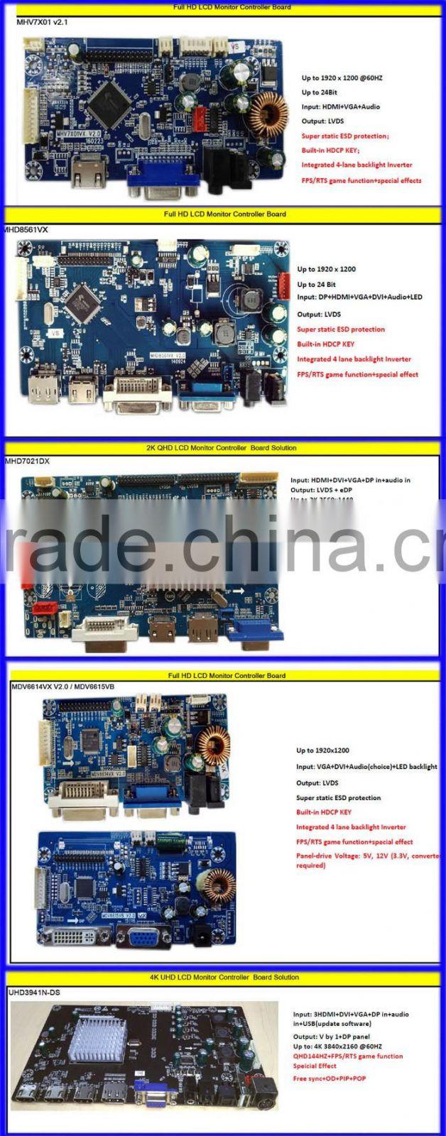 Universal Full HD LCD Monitor Display Driver Board With DVI VGA HDMI