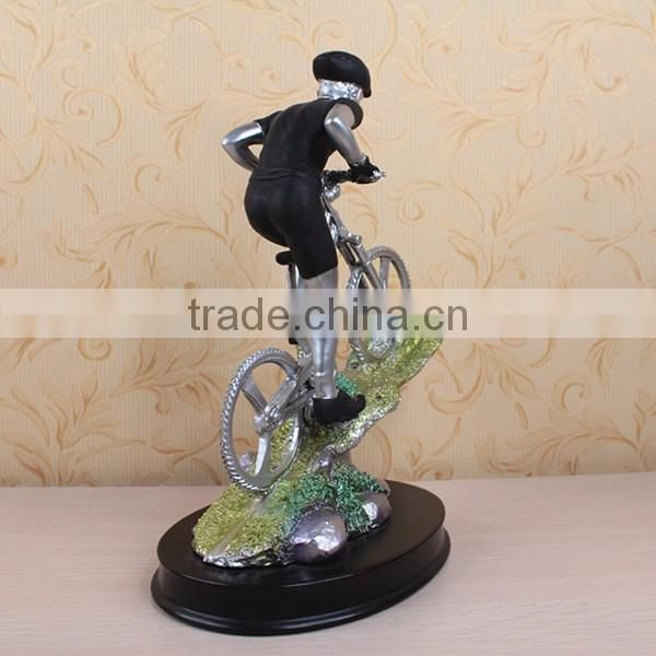 Resin creative gifts sports souvenirs racing game player statue