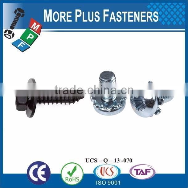 Taiwan M4-0.7 x 60mm DIN 964 Slotted Drive Oval Head Brass Machine Screw M3 M12 with Double Lock Washer Square Washer
