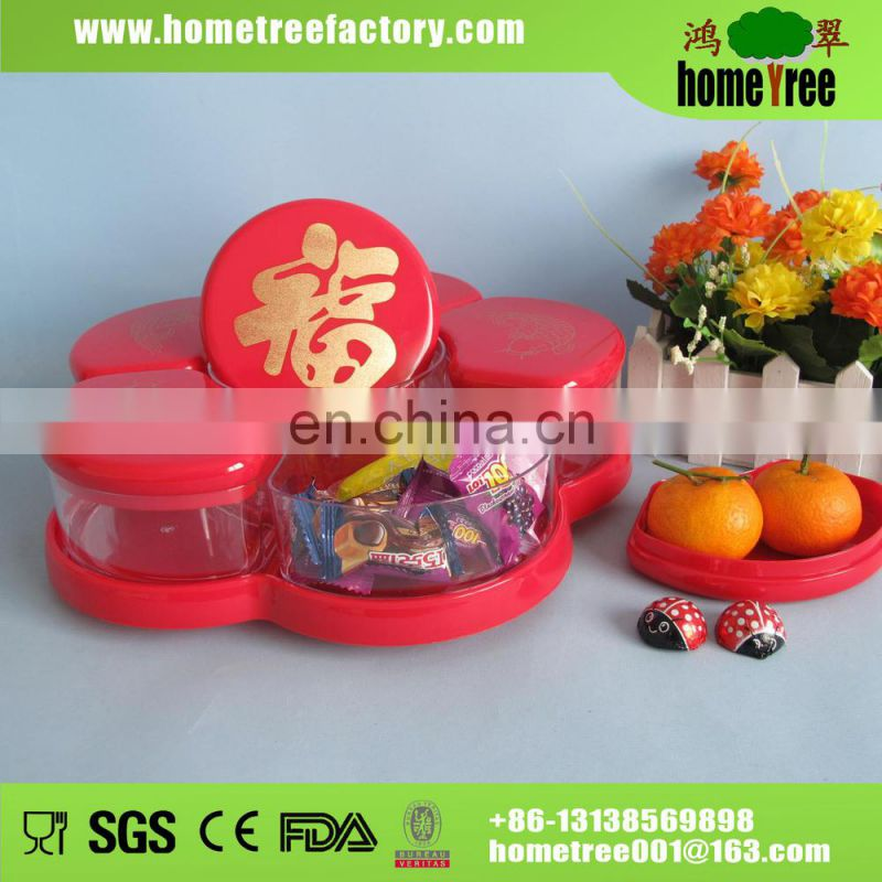 2.13L Green Apple Shape Rotate Candy Storage Box