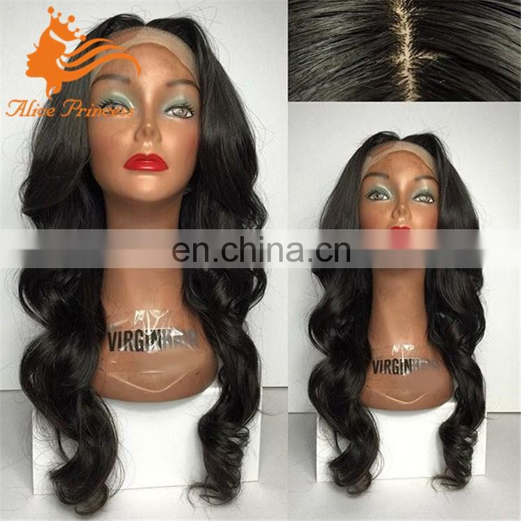 Cheap Brazilian Full Lace silk base wig Body Wave Human Hair Wig Glueless Silk Top Lace Front Wigs With Baby Hair In Stock