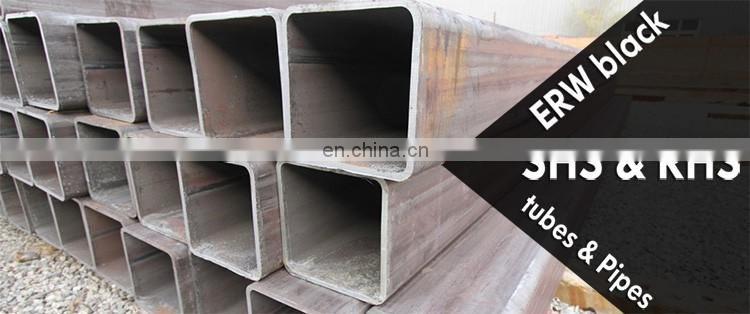 ASTM a500 welded square tube black carbon steel pipe size 75mm*75mm