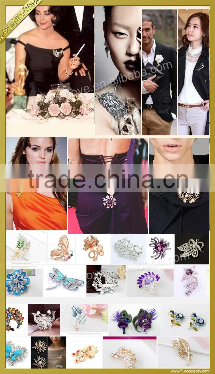 Wholesale bee custom made ab crystal brooch mother's day brooches pins for men FB-056