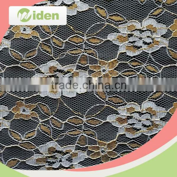 Embroidery cording lace 100% nylon material nigerian net French lace fabric