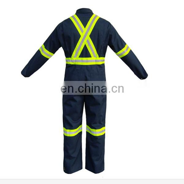Hi-Vis knitted buttom fabric Protective Safety Jacket suits with PU coating
