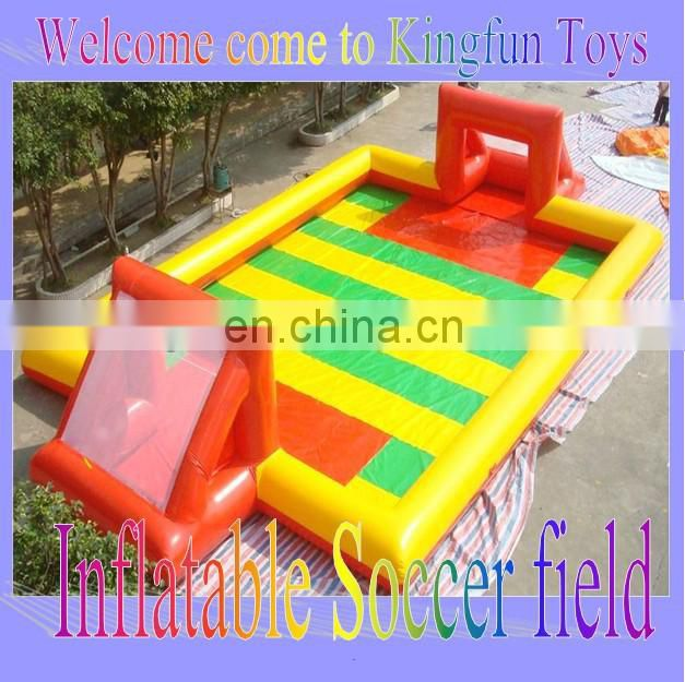 crazy soccer bubble field/ inflatable soap football field