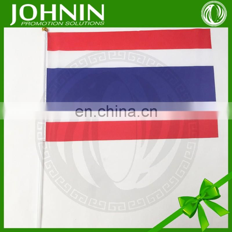 cheap polyester print promotional national hand waving thailand flag