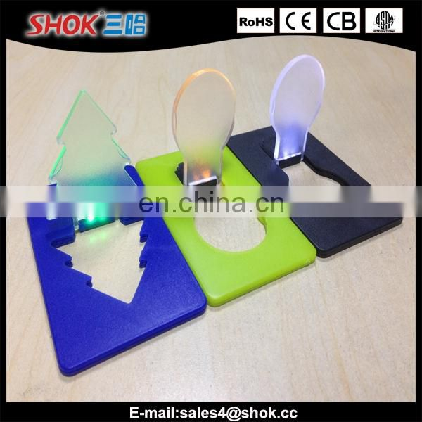 Christmas tree promotional gift LED mini pocket card light