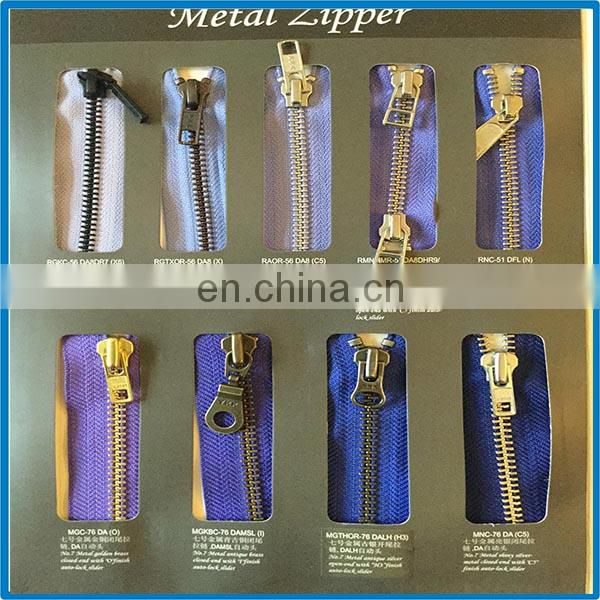 Fully Polished Silver Metal Zipper In Ykk Excella Process H85 Brass