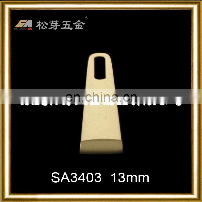 Custom Zinc Alloy Metal Puller For Garment, Gold Plated Clothing Metal Puller Hardware
