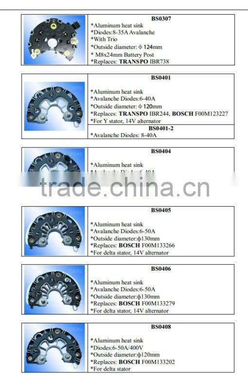 FORD Auto alternator rectifier, OEM No.:FR2013/WAI No.:31-207-1 alternator rectifier diode