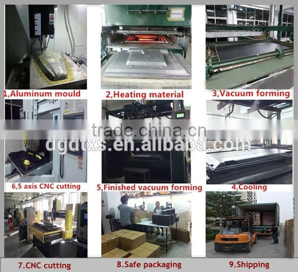 Rectangle ABS lining plastic tray of equipment box by vacuum forming