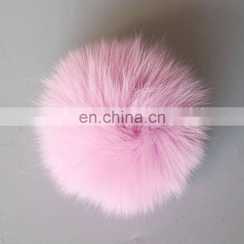 Hugely popular handmade real fox fur ball/bobble for decoration wholesale