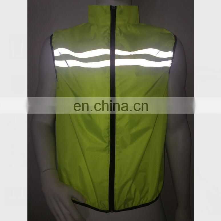 high visibility running cycling reflective safety vest