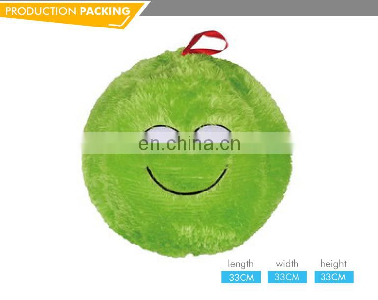 Soft sport toy 10 inch coloured happy expression plush stuffed soccer ball