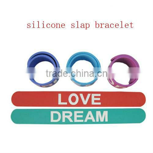wholesale silicone slap bracelets/slap bands