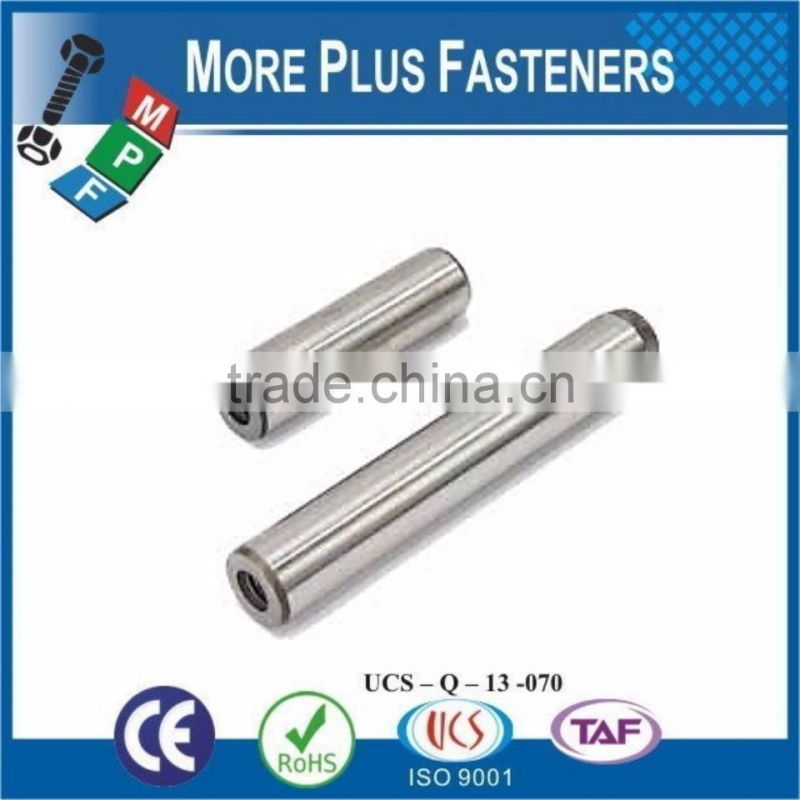 Made in Taiwan Metric Tapped Spring Stainless Steel Dowel Pin Plain Finish