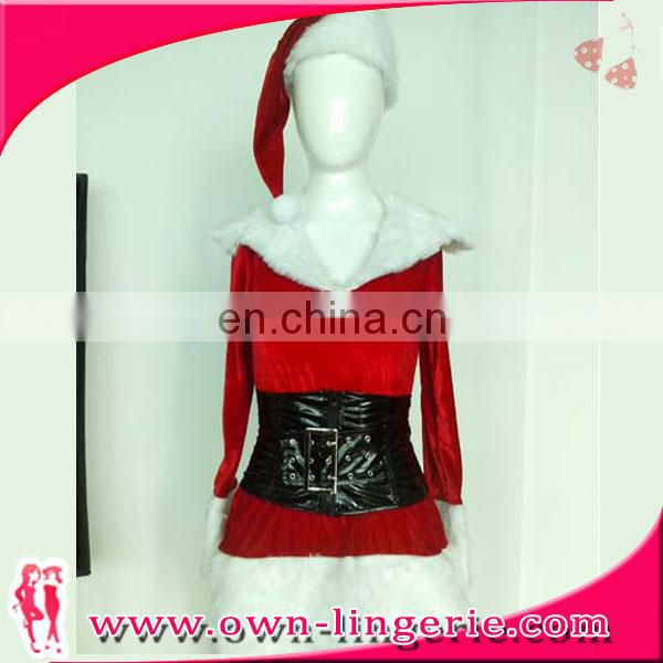velvet sexy warm mother christmas costume