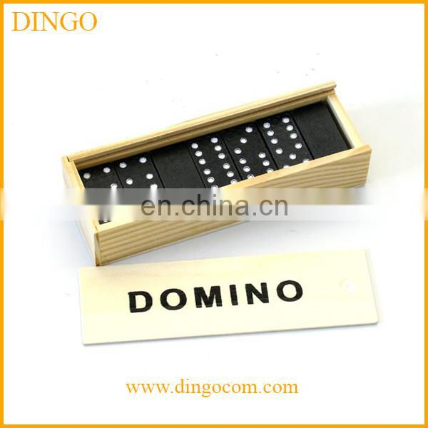 28 pcs wooden domino game set