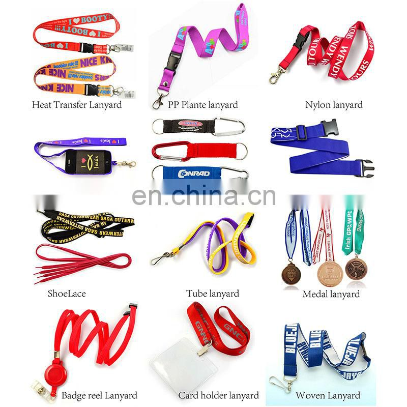 New products lanyard factory nylon strap key chain