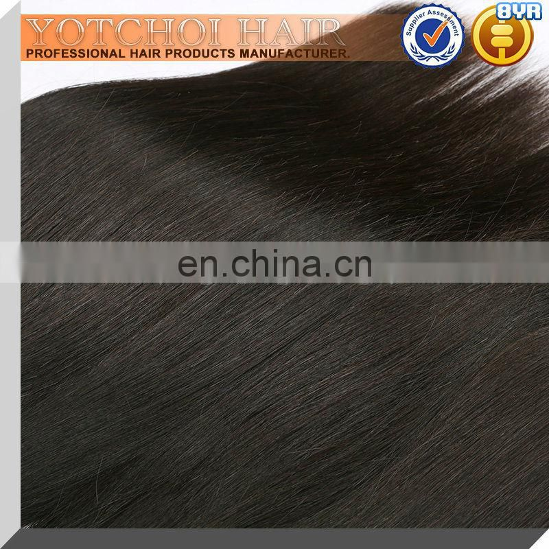 Yotchoi Online Shopping Top Indian Straight Natural Hair Weave 100% Raw Cheap 7A Grade Virgin Human Hair