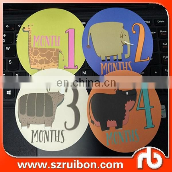 Unique Baby Monthly Stickers for various surface