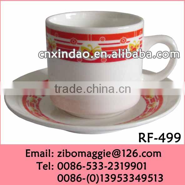 Custom Made Good Quality Nice Custe Designed Personalized Ceramic Snowman Cup and Saucer