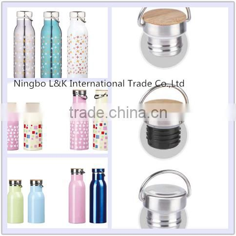 Customized promotional stainless steel insulated water bottle/sports water bottle